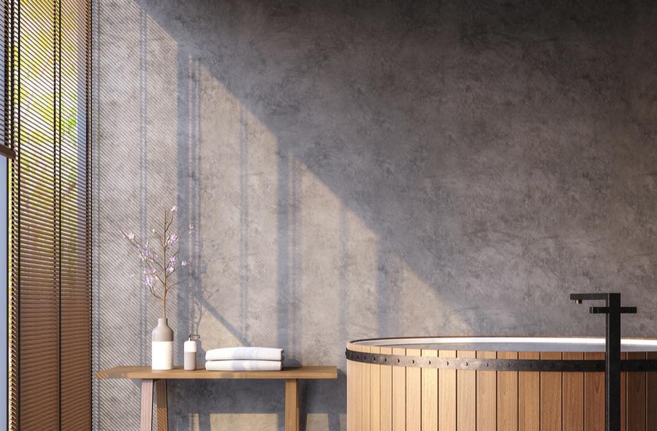 beton ciré wand