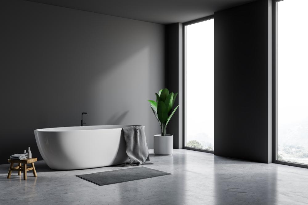 badkamer met betonvloer